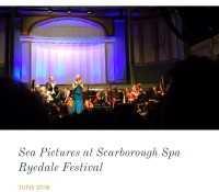 Sea Pictures at Scarborough – Ryedale Festival