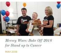 Mersey Wave Stand up to Cancer Bake Off 2018