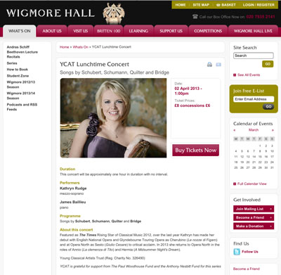 Wigmore Hall Recital